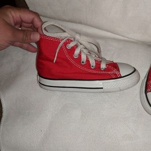 Converse Shoes - Red high top Converse